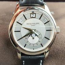Patek Philippe Annual Calendar Or blanc 40mm Argent Sans chiffres