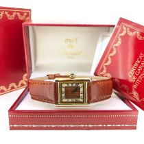 Cartier Tank Vermeil Argent 20mm Champagne Romains