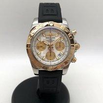 Breitling Chronomat 41 Acero y oro 41mm Blanco Sin cifras