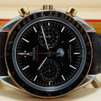 Omega Speedmaster Professional Moonwatch Moonphase Gold/Steel 44.25mm Brown