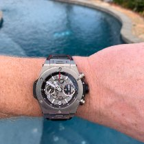 Hublot Big Bang Unico pre-owned 45mm Transparent Chronograph Date Crocodile skin