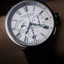 Ulysse Nardin Marine Chronograph Stahl 43mm Weiß Römisch Schweiz, Arbon