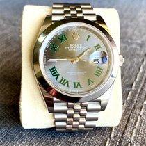 Rolex Datejust Steel 41mm Green No numerals