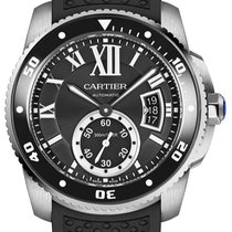 Cartier Calibre de Cartier Diver Сталь 42mm Черный Римские