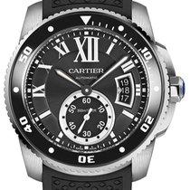 Cartier Calibre de Cartier Diver Stahl 42mm Schwarz Römisch