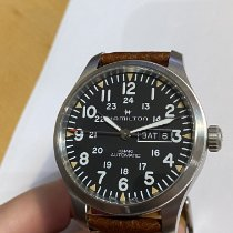 Hamilton Khaki Field Day Date Acier 42mm Gris Arabes
