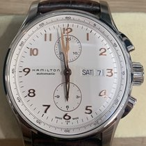 Hamilton Jazzmaster Maestro occasion 45mm Blanc Chronographe Date Affichage des jours Cuir