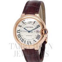 Cartier Ballon Bleu 42mm Pозовое золото 42mm Cеребро Римские