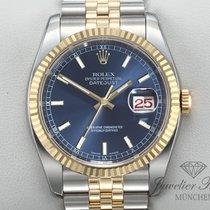 Rolex Lady-Datejust Or/Acier 36mm Bleu