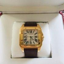 Cartier W20071Y1 Желтое золото 2011 Santos 100 38mm подержанные