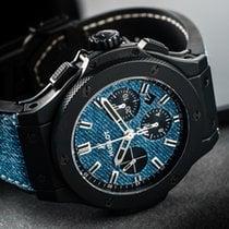 Hublot Big Bang Jeans usados 44mm Azul Cronógrafo Fecha Caucho