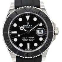 Rolex Yacht-Master 42 Or blanc 42mm Noir Sans chiffres