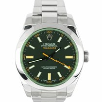 Rolex 116400GV Steel Milgauss 40mm pre-owned United States of America, New York, Smithtown