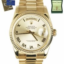Rolex Day-Date 36 Yellow gold 36mm Champagne Roman numerals United States of America, New York, Smithtown