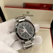 Tudor Grantour Chrono Fly-Back pre-owned 42mm Black Chronograph Flyback Date Steel