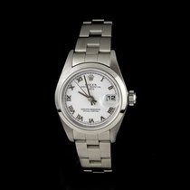 Rolex Oyster Perpetual Lady Date Сталь 26mm Белый