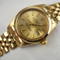 Rolex Or jaune Remontage automatique Or Sans chiffres 26mm occasion Oyster Perpetual Lady Date