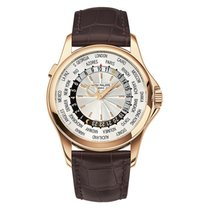 Patek Philippe World Time pre-owned Silver Leather