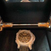 Panerai Luminor 1950 8 Days Chrono Monopulsante GMT occasion 44mm Brun Chronographe GMT Boucle ardillon