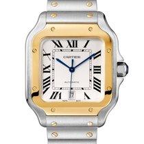 Cartier Santos 100 Золото/Cталь 39.8mm Cеребро Римские