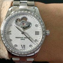 Frederique Constant Ladies Automatic Double Heart Beat Acier 36mm Blanc