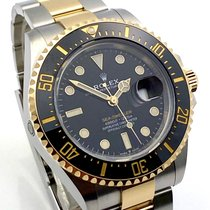 Rolex Sea-Dweller Gold/Steel 43mm Black No numerals