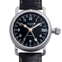 Longines Steel Automatic Black 41mm pre-owned Avigation