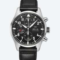 IWC 파일럿 크로노그래프 신규 2019 자동 크로노그래프 시계 및 정품 박스와 서류 원본 IW377709