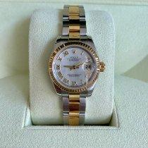 Rolex Lady-Datejust Gold/Steel 26mm Mother of pearl Roman numerals UAE, Dubai