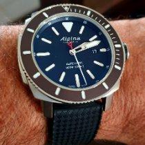 Alpina Seastrong Acier 44mm Noir Sans chiffres France, Dole