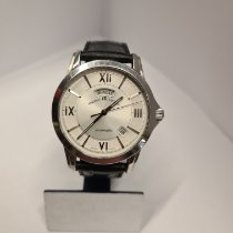 Maurice Lacroix Pontos Day Date pre-owned 40mm Silver Date Weekday Leather