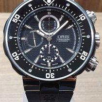 Oris ProDiver Chronograph Titanium 51mm Zwart Geen cijfers
