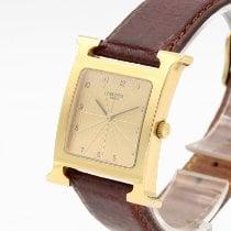 Hermès Heure H Stal 30mm Złoty Arabskie