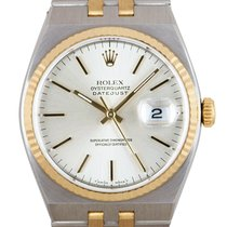 Rolex Datejust Oysterquartz Gold/Steel 36mm Silver No numerals