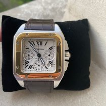 Cartier Santos 100 Or/Acier 41mm Blanc Romains France, Ile de france