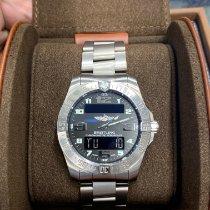 Breitling Aerospace EVO подержанные 43mm Черный Хронограф Дата Будильник GMT/две час.зоны Титан