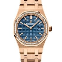 Audemars Piguet Royal Oak Lady Rose gold 33mm Blue No numerals United States of America, New York, New York
