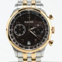 Bulova Classic Steel 42mm Brown Arabic numerals United States of America, Nevada, Las Vegas