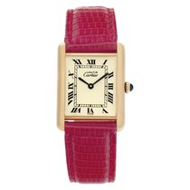 Cartier Tank Vermeil 23.5mm Champagne Roman numerals United States of America, Florida, Surfside
