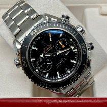 Omega Seamaster Planet Ocean Chronograph Ocel 45,5mm Černá Bez čísel