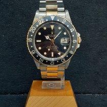 劳力士 GMT-Master 金/钢 40mm 黑色 无数字
