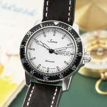 Sinn 104 occasion 41mm Blanc Date Affichage des jours Cuir