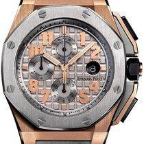 Audemars Piguet Royal Oak Offshore Chronograph Pозовое золото 44mm Cерый Aрабские