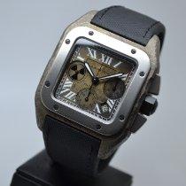 Cartier Титан Автоподзавод Бронзовый Римские подержанные Santos 100