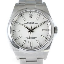 Rolex Oyster Perpetual 39 Acero 39mm Blanco Sin cifras