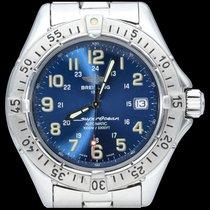 Breitling Superocean occasion 41mm Bleu Date Acier