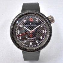 Giuliano Mazzuoli Carbon Automatic Black Arabic numerals 44mm pre-owned Manometro