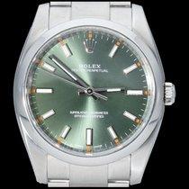 Rolex Oyster Perpetual 34 occasion 34mm Vert Acier