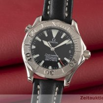 Omega Or blanc Remontage automatique Noir 36.5mm occasion Seamaster