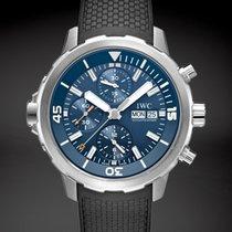 IWC Aquatimer Chronograph Сталь 44mm Синий Без цифр